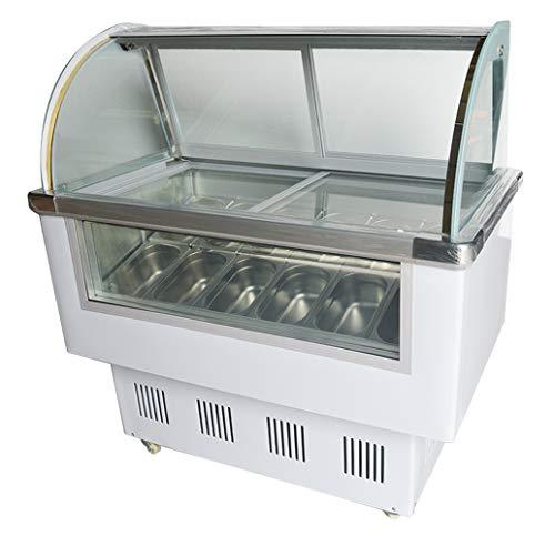 INTBUYING 220V 12 PAN Hard Ice Cream Showcase Gelato Dipping Cabinet Freezer Display Case (Freezer Dipping)
