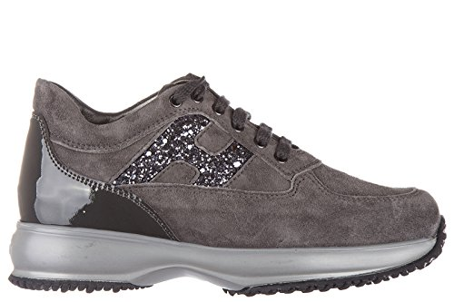 Hogan chaussures baskets sneakers filles en daim neuves interactive h fustellata