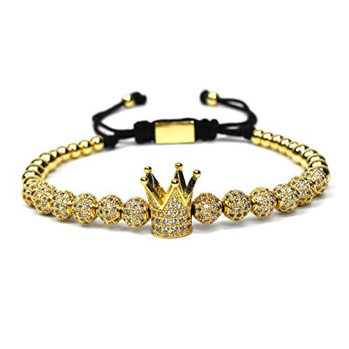 Rhodium Boy Charm - Jewelry Crown Charms Men Bracelet Beads Bracelets For Women Rhodium Plated