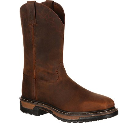 Rocky Men's Original Ride Western Work Boot, Dark Brown, 10 M US