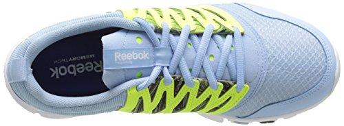 Reebok Womens Yourflex Trainette 5l Wow Scarpe Da Allenamento Denim Glow / Solar Yellow / White
