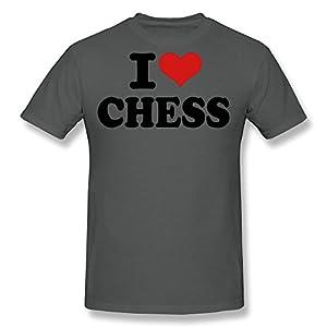 TAUYOP Men's I Love Chess T-shirts