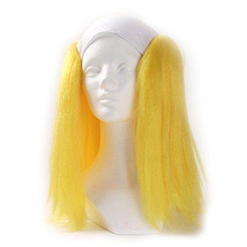 Yellow Clown Wig (Clown Antics Yellow Bald Clown Straight)