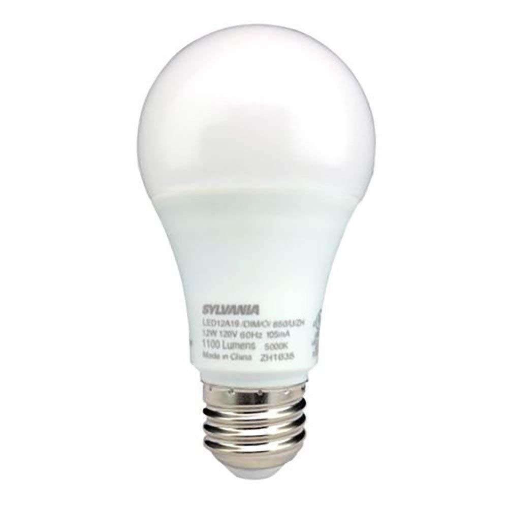 Sylvania A19 LED 75W相当 E26 つや消し仕上げ クールホワイト 5000K 電球 (10個パック) B07L6RJ46K