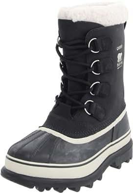 Sorel Women's Caribou Boot (6 B(M) US / 37 EUR, Black/Stone)