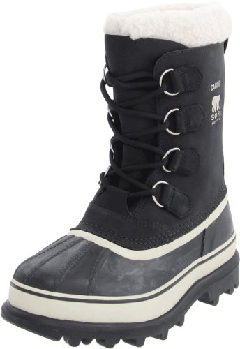Sorel Women's Caribou NL1005 Boot,Black/Stone,9.5 M