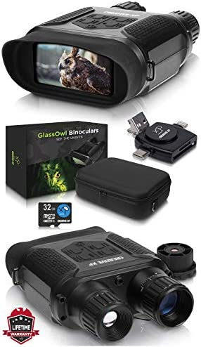 CREATIVE XP Digital Night Vision Binoculars for Complete Darkness - GlassOwl Infrared Spy Gear for Hunting and Surveillance