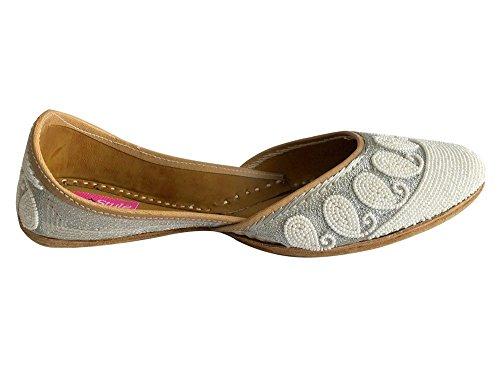 Style Jutti Zapatillas Khussa Step Punjabi De Mano Flop Zapatos Indio Mojari Jooti Plano N 5txaqw1