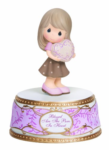 Precious Moments PWP Girl with Heart Musical Figurine