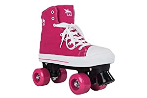 Rookie Canvas High Quad Skates - Pink