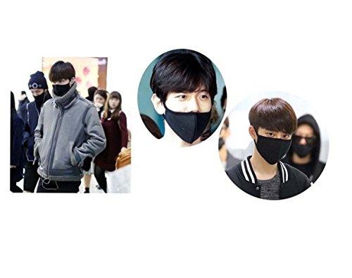 queenneeup Unisex Exo All Members Black Mask Exo Mask Kpop Mask 18 Types (BLACK B)