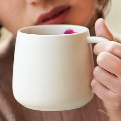 La taza tazas de café de cerámica beber agua leche minimalista oficina home taza de avena de desayuno ,8.8*8cm.: Amazon.es: Hogar
