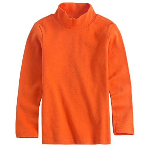 er Boys Long Sleeve Cotton Tees Kids T-Shirt Tops Orange 7T ()