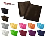 Creative 2 Pieces of Colorful Shiny Satin Queen Size Pillow Case - Brown
