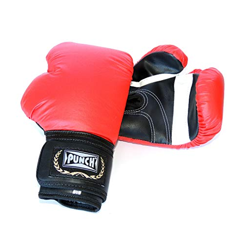 Luva Boxe Punch Unissex Vermelha