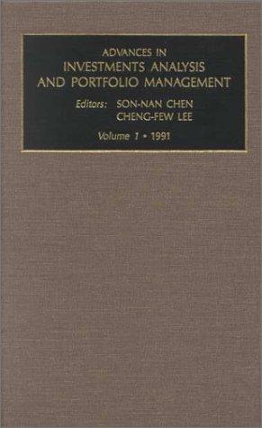 Advances in Investment Analysis and Portfolio Management: Vol 1 (Advances in Investment Analysis and Portfolio Managemen