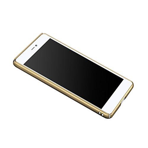 Funda Xiaomi Mi4c Mi 4C, Caso con [Protector de Pantalla de Cristal Templado] [Ultra-Delgado] [Ligera] Anti-Rasguño y Anti-Huellas Dactilares Totalmente Protectora Estuche de Plástico Duro -Rosa Oro