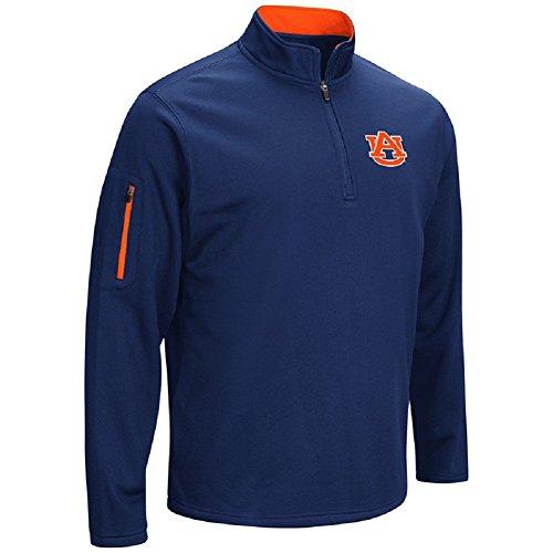 Auburn Tigers College Basketball - Colosseum Men's VF Poly Fleece 1/4 Zip Pullover-Auburn Tigers-Navy-Large