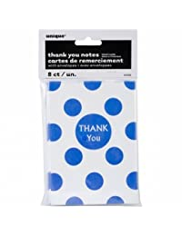 Thank You Cards & Envelopes 8/Pkg-Royal Blue Decorative Dots BOBEBE Online Baby Store From New York to Miami and Los Angeles