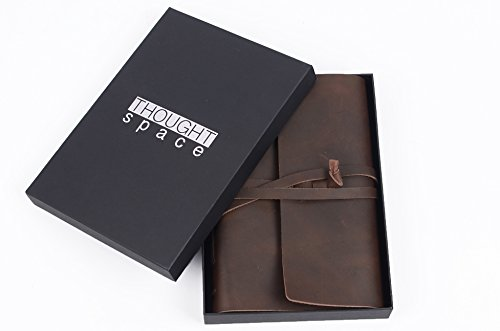 Handmade Leather Lined Journal Notebook – Genuine Leather Bound Daily Notepad For Men  Women Lined Paper 240 Pages