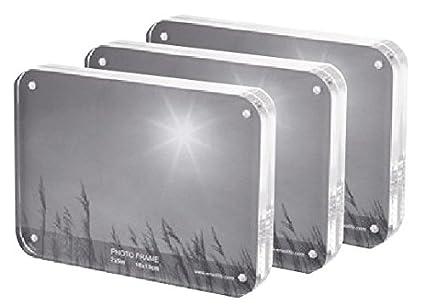 Amazon Cq Acrylic 3pcs 4 X 6 Acrylic Magnetic Picture Frames