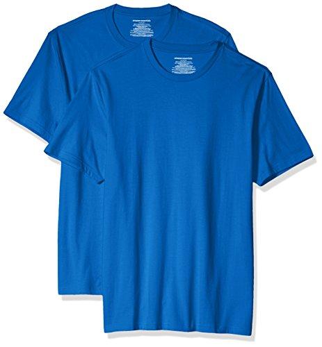Amazon Essentials Men's 2-Pack Slim-Fit Short-Sleeve Crewneck T-Shirt, Imperial Blue, XX-Large