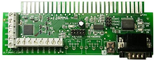 RetroArcade.us J-PAC Jamma Interface - Connect a PC to a Jamma Cabinet