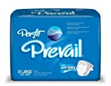 Prevail Per-Fit Maximum Absorbency,  Briefs, Large, 18-Count (Pack of 4)