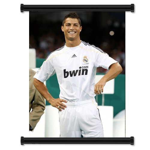 Cristiano Ronaldo Soccer Futbol Star Fabric Wall Scroll Poster (16