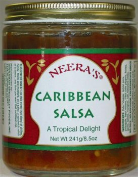 Caribbean Salsa-Honey, hot, tropical fruits, 1 Jar