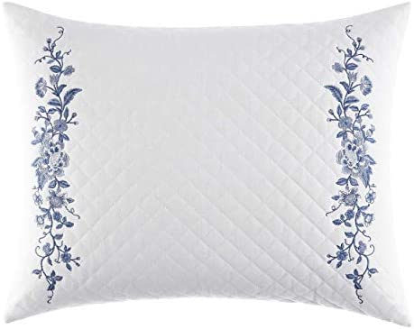 Laura Ashley Home Charlotte Collection Perfect Decorative Throw Pillow, Premium Designer Quality, Decorative Pillow for Bedroom Living Room and Home D cor, 16×20, China Blue