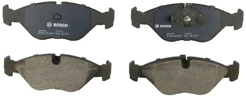 (Bosch BP403 QuietCast Premium Semi-Metallic Disc Brake Pad Set For 1988-1998 Saab 9000; Front)