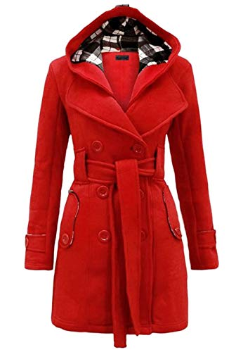 OMZIN Women Double Breasted Blazer Dress Trench Coat, used for sale  Delivered anywhere in USA