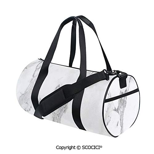 Crossbody Bags for Women Men,Abstract Stained Hazy Pattern Natural Textured Architectural Background Theme DecorativeEasy to Carry,(17.6 x 9 x 9 in) Grey White Dust