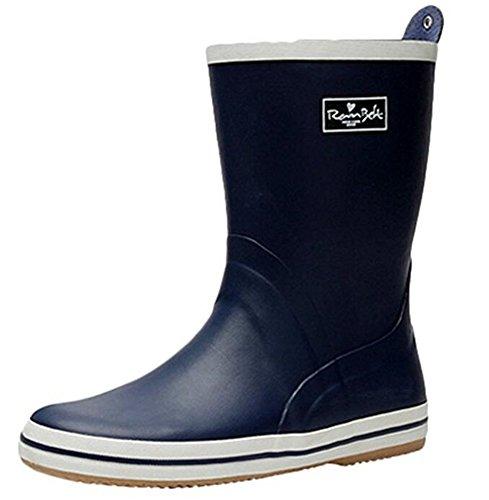 Adult Men's Antiskid Rubber Sole Waterproof Work Shoes Rain Boots