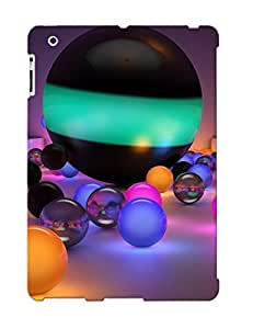 Ideal Crazinesswith Case Cover For Ipad 2/3/4(glowing Marbles), Protective Stylish Case