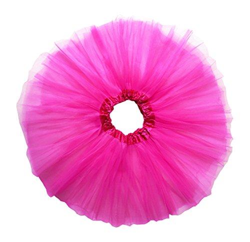 de Tutu Unique Grande Pink Jupe Tulle 4 Femme Taille Dancina et Couches Taille aIqFv5