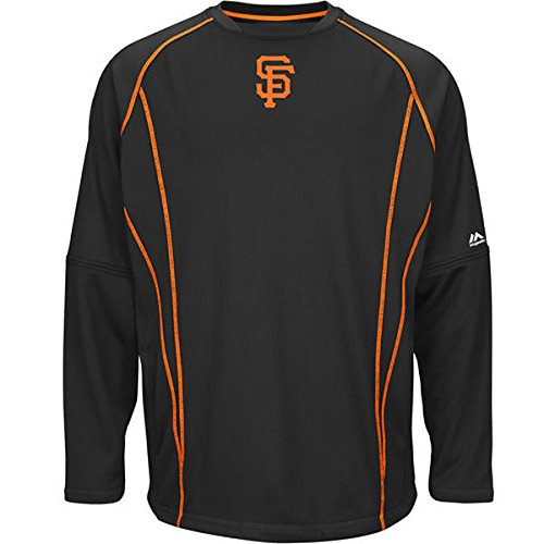 Tall Therma Base (San Francisco Giants MLB Men's Big and Tall Therma Base On-Field Practice Pullover Fleece - Black (5XL))