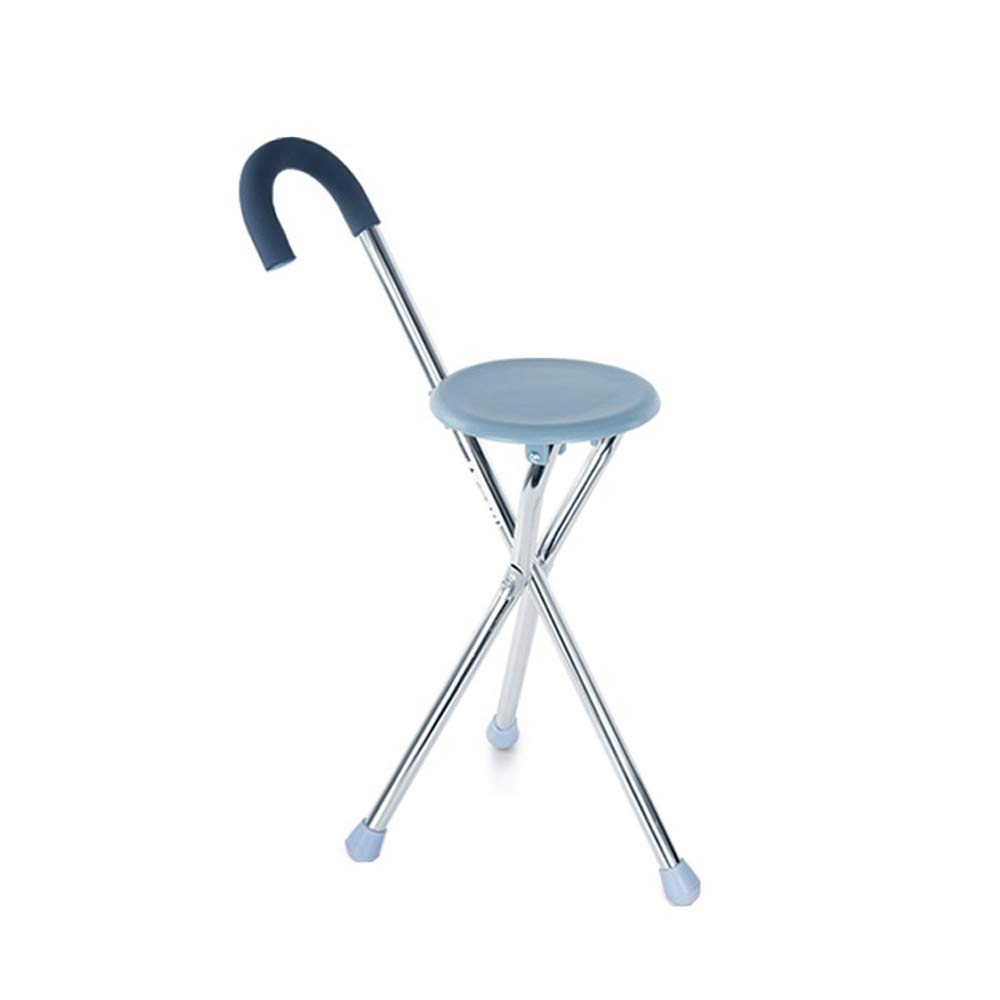 Walker, Old Cane Chair, Folding Aluminum Walker Disabled Abduct Non-Slip Belt Cushion Assisted Walking