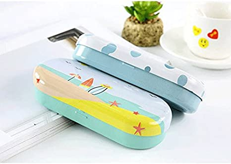 A 3.3cm DaoRier Crush Resistance Hard Glasses Case Portable Side Opened Spectacles Iron Box Protector for Eyeglasses 15.5 6.5