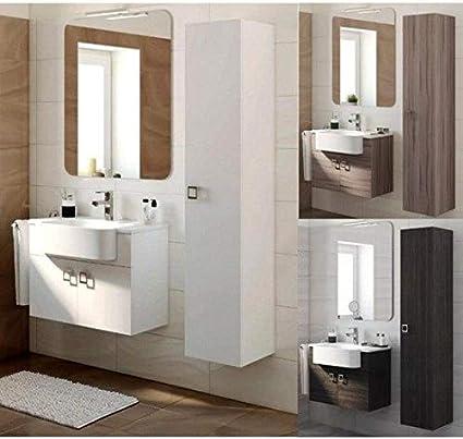 Bagno Italia Mobile Arredo Bagno 70 30 Cm Sospeso Moderno Disp Bianco Grigio Scuro Larice Con Specchio Mobili 1 L Amazon It Fai Da Te