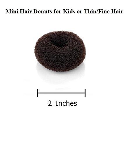 Hairdo Color Ring (Beaute Galleria - Hair Donut Bun Maker Ring Style Mesh Chignon Ballet Bun Updo (Mini, Brown))
