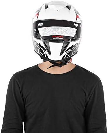 Casco da moto Ventilato XXL High Safety Casco Integrale da Motociclista con doppie lenti Modello pagliaccio bianco
