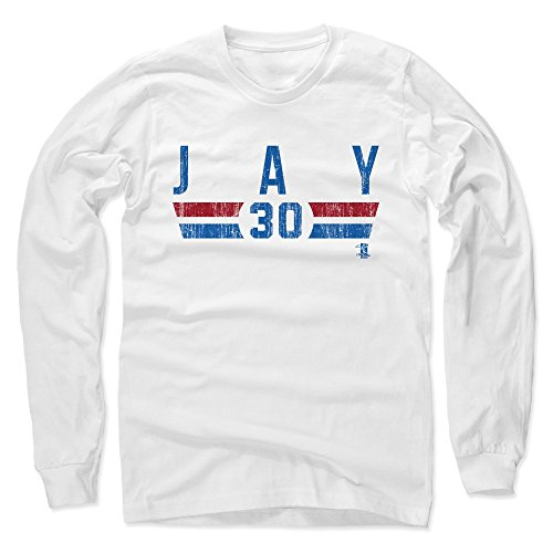500 LEVEL's Jon Jay Long Sleeve T-Shirt XXL White - Jon Jay Chicago Font B - Chicago Baseball Fan Gear