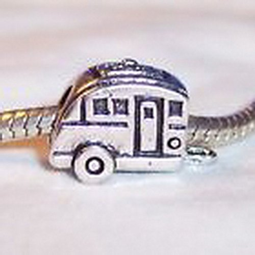 Glamorise Beads #14416 Camper RV Mobile Home Camping Trip Bead for Silver European Charm Bracelets