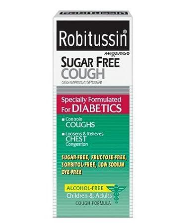 amazon com robitussin dm cough chest congestion sugar free 4 oz