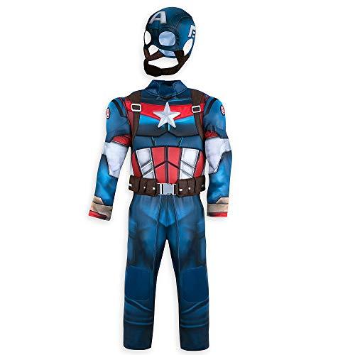 Marvel Captain America Costume for Kids Blue Size -