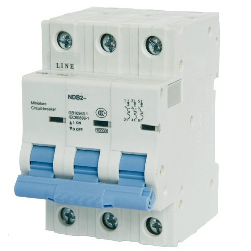 - ASI NDB2-63C50-3 DIN Rail Mount Circuit Breaker, UL 1077 Supplemental Protection, 50 amp, 3 Pole, 240/480V, General Purpose Trip Curve C