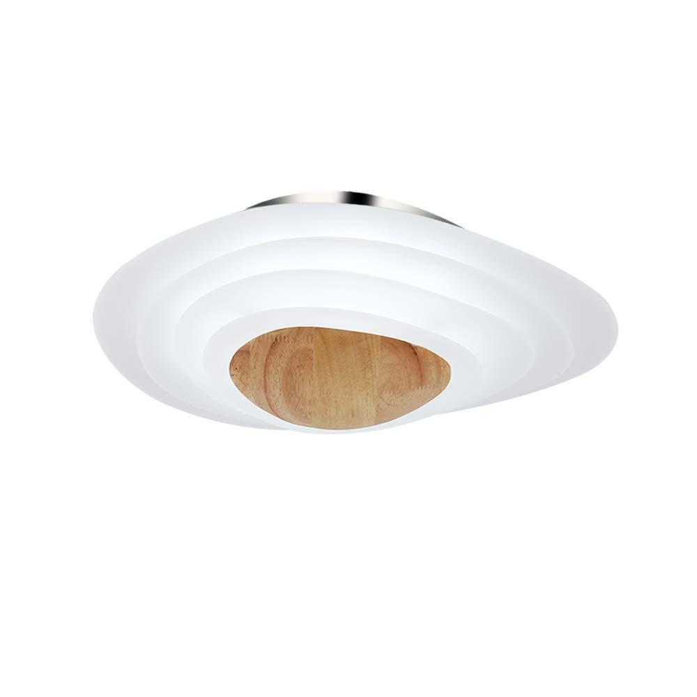 Holz LED Deckenleuchte 18W Deckenlampe Rund 6000K Kaltweiss für Schlafzimmer Küche Büro Esszimmer Wohnzimmer Leuchtmittel