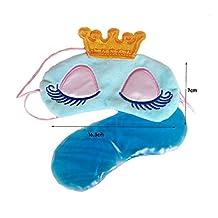 Cute Sleeping Beauty Cartoon Eye Mask & Blindfold for Kid's Sweet Dreams Blue